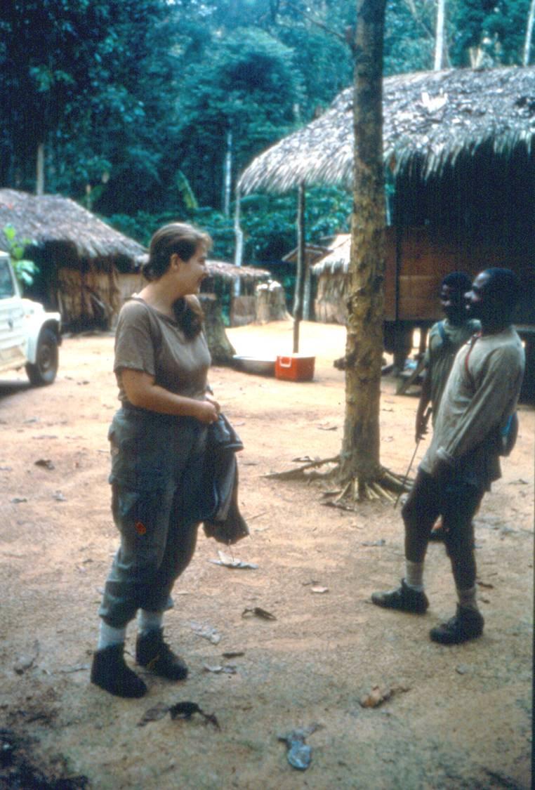 Remis and assistants Bai Hokou field camp 1992